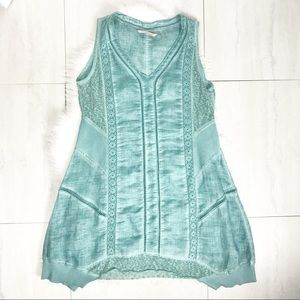 Soft Surroundings Sleeveless Embroidered Tunic Top